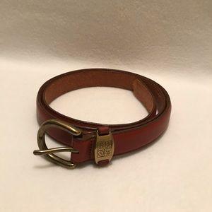Vintage L. L. Bean Cognac Brown Leather Belt XL